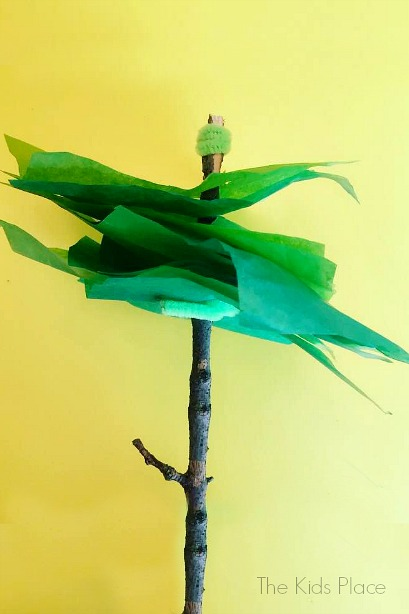 Tissue Paper Trees - Earth Day craft for Kids