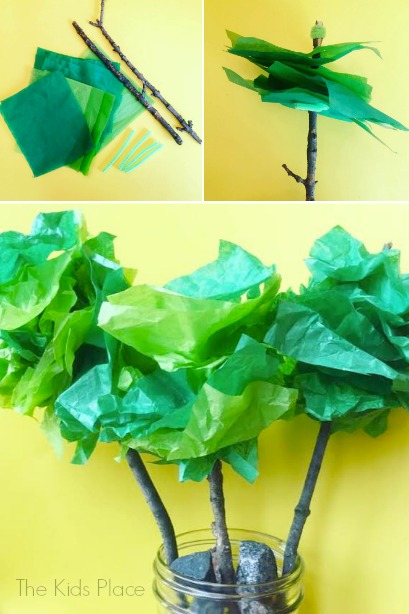 Tissue Paper Trees | Housing a Forest