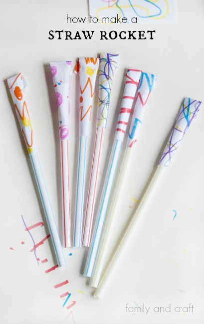 How to make a Straw Rocket ~ Easy kids activity