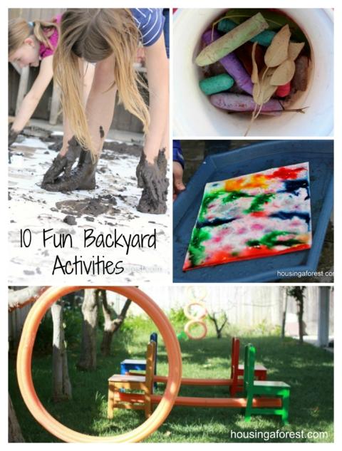 10 Fun Backyard Activities Housing A Forest